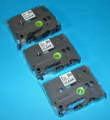 Laminated Label Tapes 18mm, 12mm, 9mm TZe Tape for Brother P-Touch PT-1400