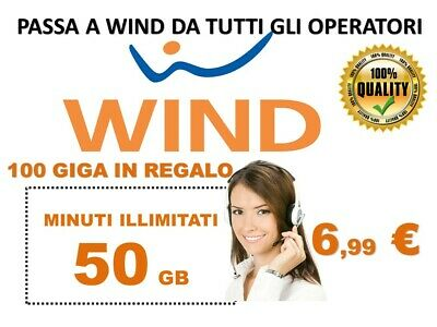 Passa a Wind 50gb+100+ minuti illimitati  6.99€ x operatori virtuali NO 3 coupon