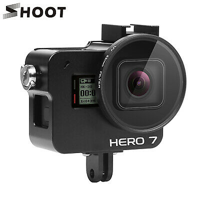 SHOOT CNC Aluminum Alloy Protective Case Cage with UV Lens for GoPro Hero 7 6 5