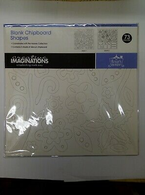 Creative Imaginations Blank Chipboard Shapes, 73 Pieces, Renae's House 2 Sheets
