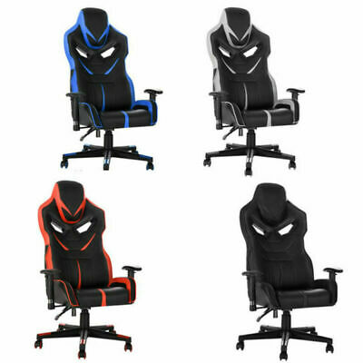 360  Swivel Office Computer  Chair Sport Racing Gaming Seat PU Leather Comfort