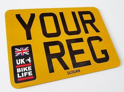 UK Bike Life Novelty Small Motorcycle Show Plate - Number 1