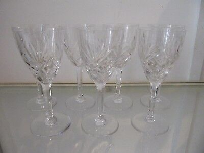 7 verres à vin blanc 11cl cristal Saint Louis Chantilly crystal wine glasses g