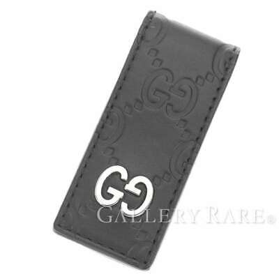 24b57f1ba128 GUCCI Money Clip Guccissima Leather Black Wallet Mens 522867 Authentic  5264148