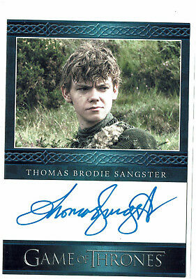 Game of Thrones Season 3 Autograph Card Thomas Brodie Sangster as Jojen Reed