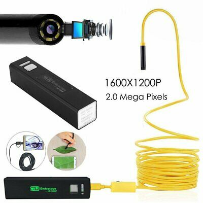 10M 1200P 8LED WiFi Borescope Endoscope Snake Inspection Camera For iOS&Android