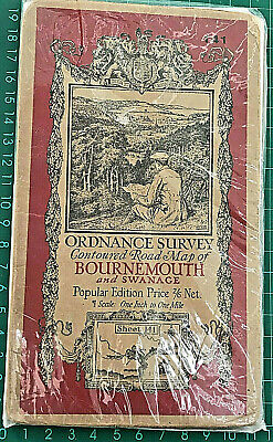 Ordnance Survey Map of Bournemouth and Swanage: Popular Edition 1921