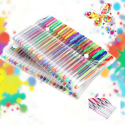 100 Gel Pens Glitter Metallic Neon Color Individual Kids Adult Art School
