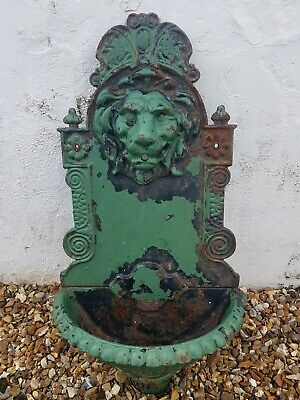 Vintage Cast Iron Lionshead Wall mounted Water feature