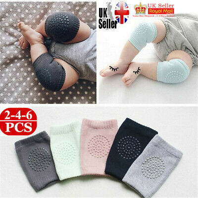 2PCS Kids Toddlers Infant Baby Safety Crawling Elbow Knee Pads Cushion Anti-Slip
