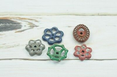 5 Vintage Water Valve Faucet Handles Knobs Steampunk  #6