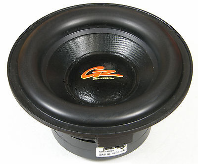 "Original GZ Engineering 10"" 400W 4ohms car subwoofer loudspeaker"