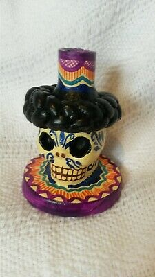 Mini Mexican polychrome candle holder