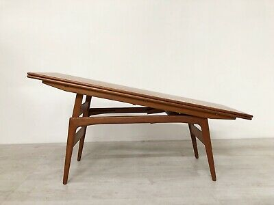 Vintage Danish Mid Century Kai Kritiansen For  Elevating Dining Coffee Table