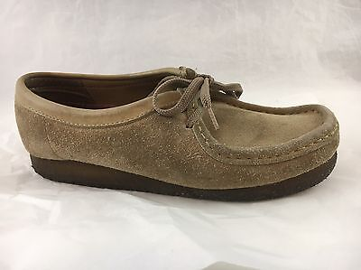 Men's Clothing Clarks Original 35395 Sand Suede Wallabees Moccasins Womens Size 6 M In Many Styles