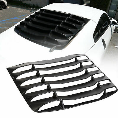 Fits 03-08 Nissan 350Z Matte Black Rear Windshield Louvers Cover ABS