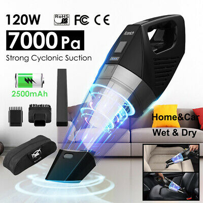 7000PA 120W 18V Handheld Car Cordless Vacuum Cleaner Home Rechargeable Wet & Dry