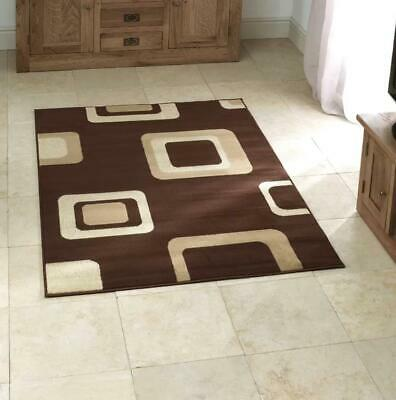 Think Rugs Diamond Wilton Weave Runner Rug, Brown, 67 x 225cm
