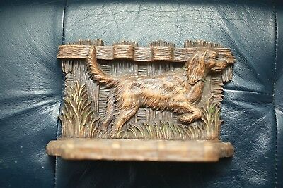 Antique Irish Setter Pointer Hunting Bird Dog 3 Pipe Holder ~ RARE Vintage Cast