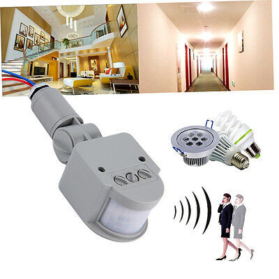 Outdoor AC 220V Automatic Infrared PIR Motion Sensor Switch for LED Light TR