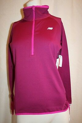 ea9ae48dad41f New Balance Dry NB Heat Women's Half Zip Athletic Top Pink Ladies Medium NEW