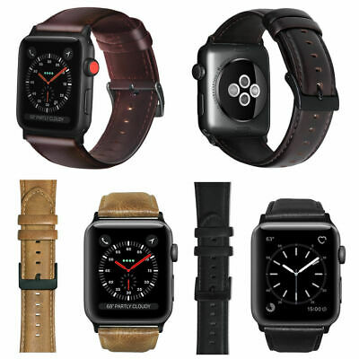 Genuine Leather Watch Band Strap For Apple Watch Series 4 iwatch 40mm 44mm Wrist