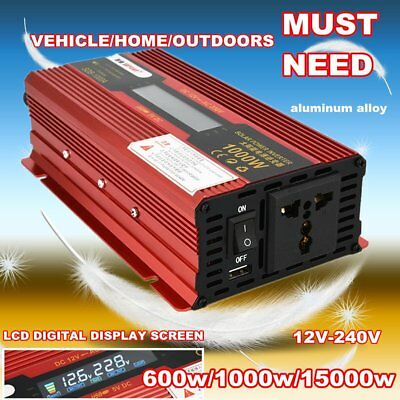 Car Sine Wave Power Inverter Dc12v To Ac220v Usb Adapter Voltage Transformik Heimwerker Wechselrichter