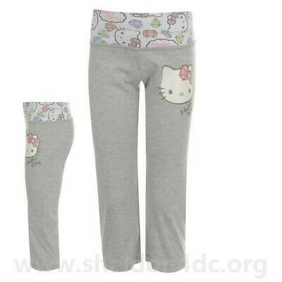 Girls Sweat Pants - Grey - Licensed Hello Kitty Joggers Bottoms 5-6 YRS A571-11