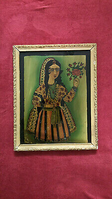 Antique Persian Painting behind the glass,alte persische hinter glas Gemälde