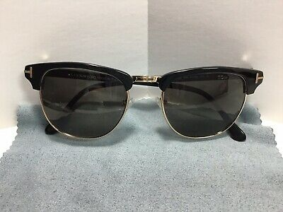 4d6428930f9e Tom Ford Henry Sunglasses Browline Black Frame TF248 51 20 145 Made In Italy