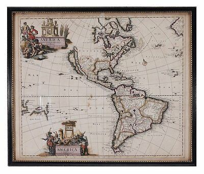 17th Century Schenck Map of the Americas - California as an Island - c.1695