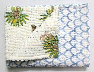 100% Cotton Soft Baby Quilt Anokhi Handmade Kantha Quilts New Brand Amazing Soft