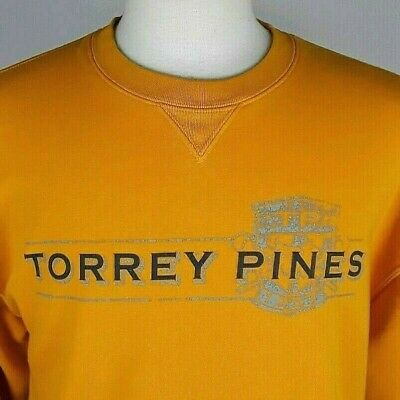 GEAR FOR SPORTS TORREY PINES Mens XL Gold Yellow Long Sleeve Pullover Sweatshirt