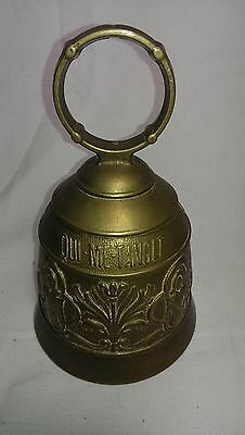 Qui Me Tangit Vocem Meam Audit Brass Bell Door Knocker Soldier with Spear Design
