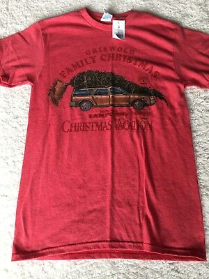 016ee349 New National Lampoons Christmas Vacation T-Shirt Griswald Family Christmas  Small