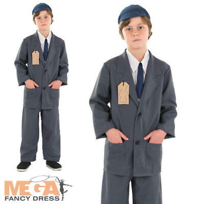 Wartime Boys Fancy Dress 1940s 40s WW2 Historical Kids World Book Day Costume