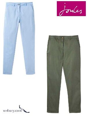 Joules Ladies Hesford Chino Trousers - Blue or Laurel - Sizes UK 10-18