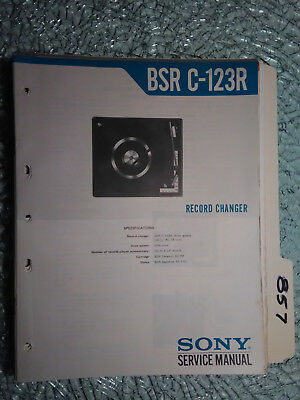 Sony bsr-c123r service manual original repair stereo turntable record player