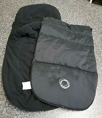 Bugaboo universal Black footmuff/cosytoes Newest Style Velcro great condition002