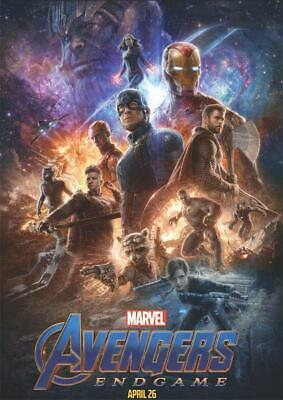 Movie Avengers End game Poster 2019 Film Cover Decor Print 18x12 36x24 40x27""