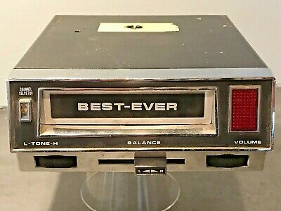 Vintage Best-Ever Brand 8 Track Cartridge Car Player