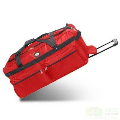 """Oversized Duffle Bag 36""""with Rollers - Perfect Heavy-Duty Camp Travel Sports Bag"""