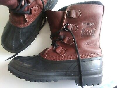 Sorel Kaufman Mens Hand Crafted Caribou Boots Size 10 All Weather Snow Nice