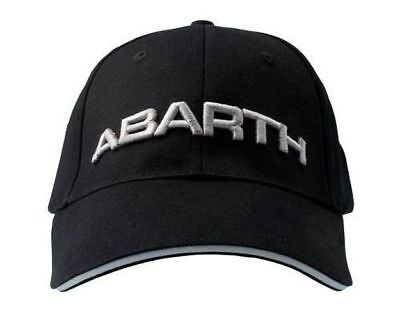 Cappello ABARTH Originale Nero ricamato Argento Cap Black OFFICIAL LICENSED AAAA