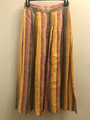 d31190ac57 Christian Dior Separates BEAUTIFUL Striped Pleated Skirt Sz Xs S Vintage  Size 6