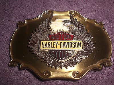 Harley Vintage 75Th Anniversary Enamel Eagle B&S 1978 Raintree Belt Buckle Usa