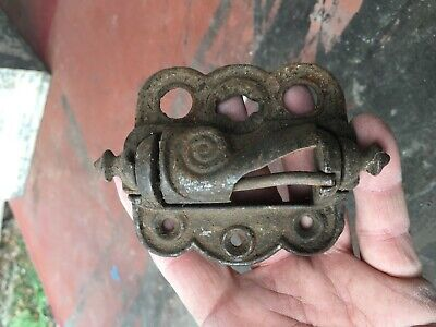 Vintage SCREEN DOOR HINGE  Iron ORNATE VICTORIAN SPRING LOADED