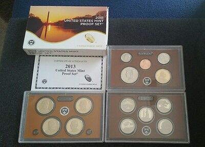 2013 U.s. Mint Proof Set With Coa 14 Coins Including 1 50C Kennedy Collect!