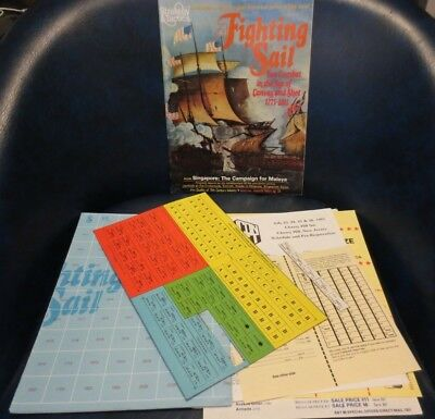 """SPI Strategy & Tactics #85 """"Fighting Sail"""" - Unpunched except for 3 pieces"""