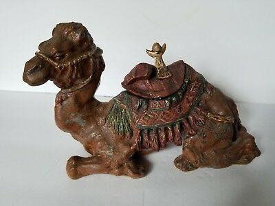 Antique Inkwell Circa1890 - 1900 HL Judd Figural Camel Hand Painted, 9 Inch